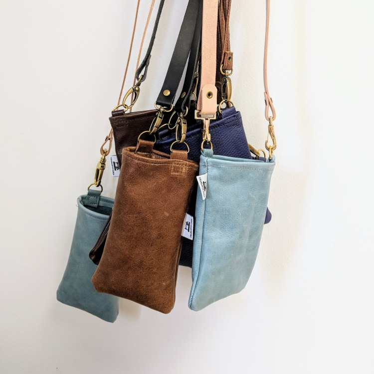 group of phone pouches