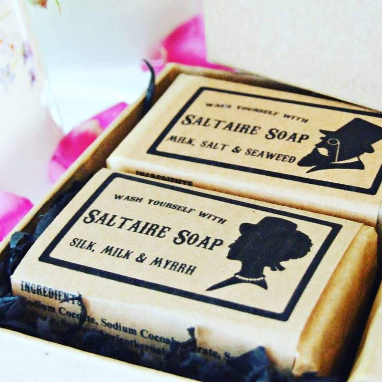 Saltaire Soap gift box with soaps